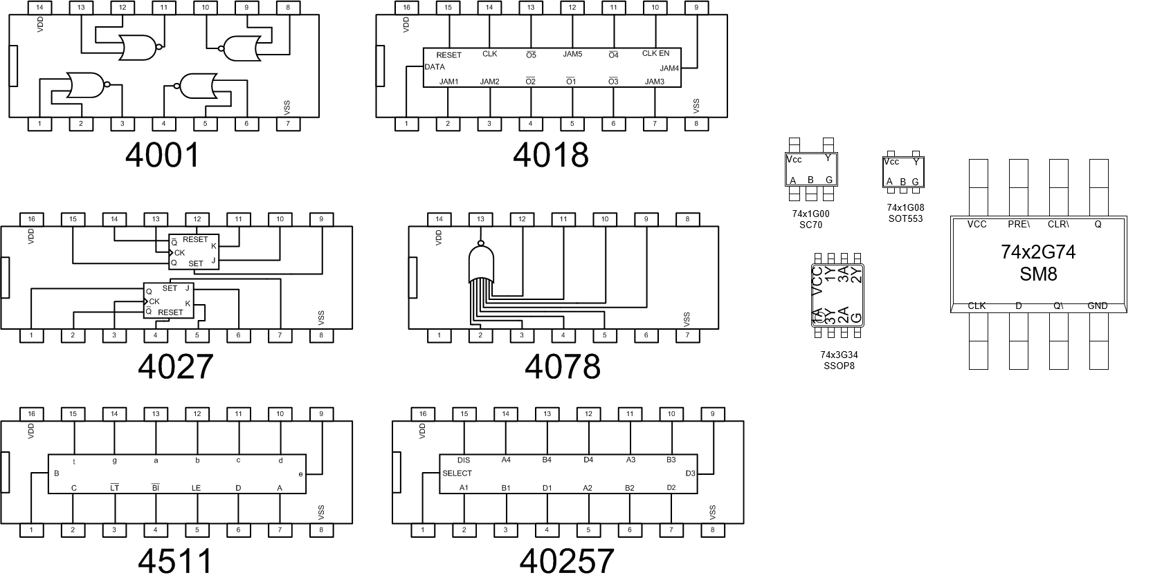 example surface mount CMOS shapes